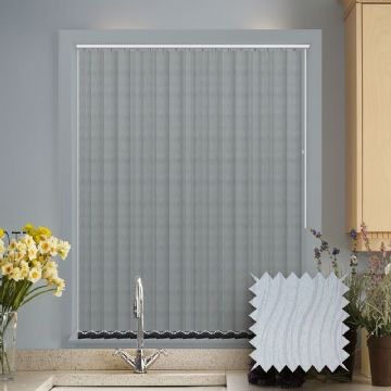 Senna Shadow Vertical Blinds - Made to Measure vertical blind in Grey
